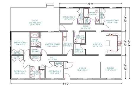 brady bunch house floor plan modular ranch tlc modular homes