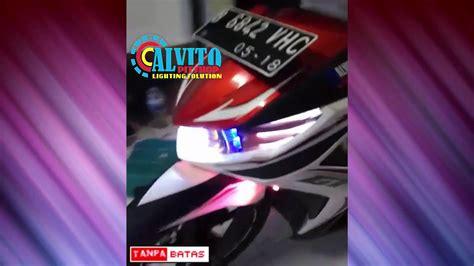 Lu Led Yamaha Soul Gt yamaha soul gt projie front headlight custom sirip eagle eye switch illumination rgb