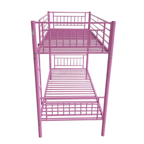 twin bed frame for kids foxhunter 3ft single metal frame bunk bed children kids