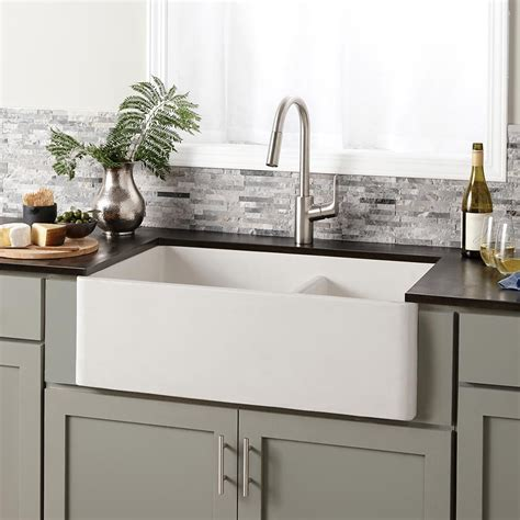Kitchen With Apron Sink Farmhouse Bowl Concrete Kitchen Sink Trails