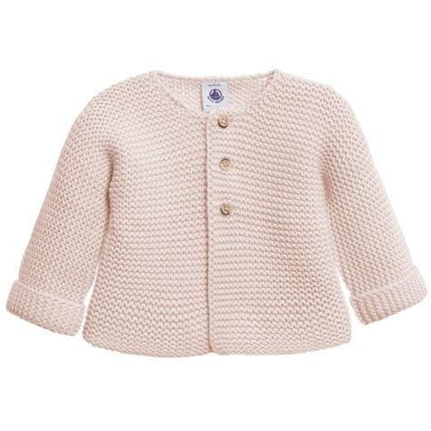 cardigan for baby petit bateau baby pink wool cotton knitted