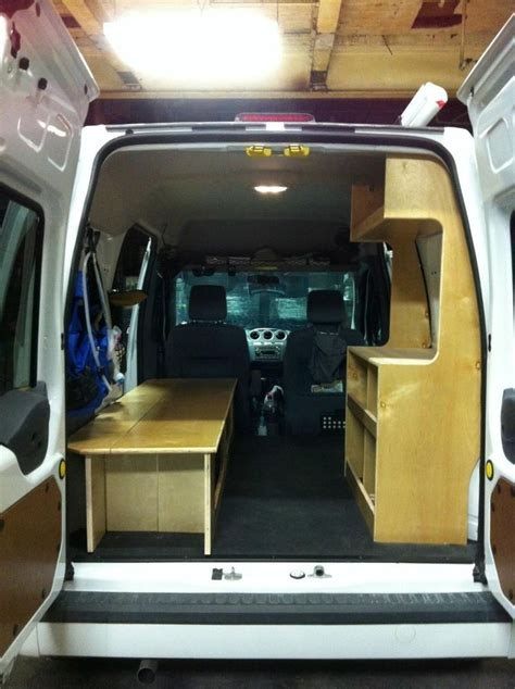 diy minivan cer ford transit connect cer pkg diy cervan cabinets rv trailer accessories and trailers