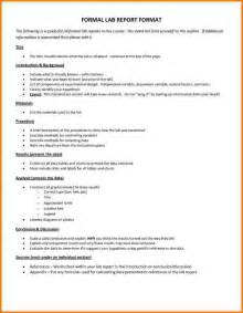 biology lab report template 10 formal lab report format high school financial