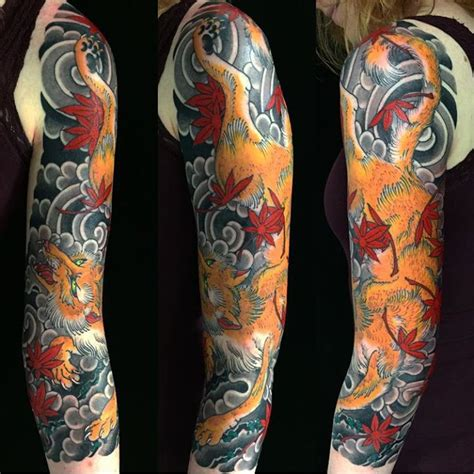 japanese tattoo uk my newly completed japanese fox 3 4 sleeve by stewart