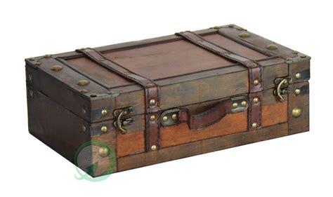 Koper Vintage Wood Retro Style Luggage Suitcase Bag Large Olb2252 decorative storage suitcases vintage style antique luggage steamer trunk wood