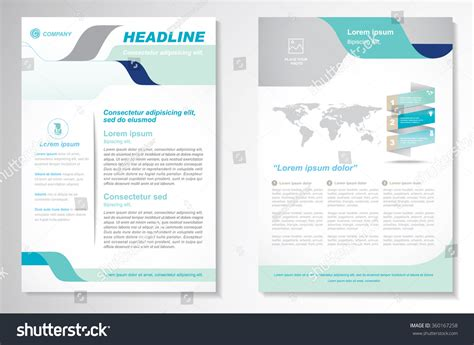 a4 layout design free vector brochure flyer design layout template size a4