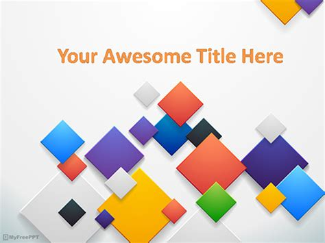 squares powerpoint template free colorful squares powerpoint template free