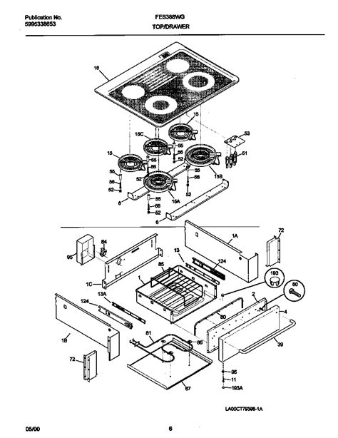 frigidaire stove parts diagram top drawer diagram parts list for model fes388wgcj