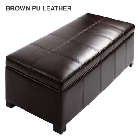 storage fabric ottoman fabric pu leather bench storage ottomans 9 colours buy
