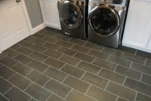 gray rectangular floor tile floors