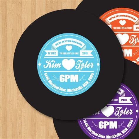 record label wedding invitations vinyl record label wedding invitation diy set printable