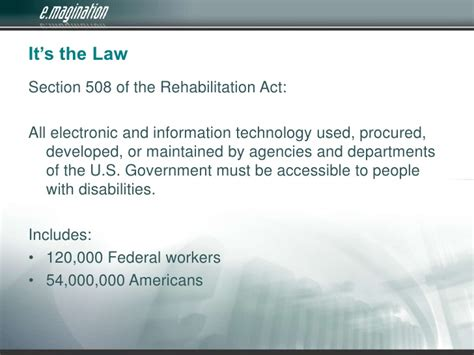 section 508 law accessibility and 508 compliance in 2009