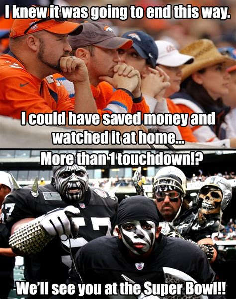 Broncos Vs Raiders Meme - the reactions of the fans after the game on thursday