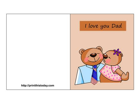 printable birthday cards dad free father s day cards printable