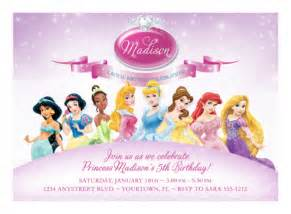 Princess Invites Templates Free Free Disney Princess Birthday Invitations Printable