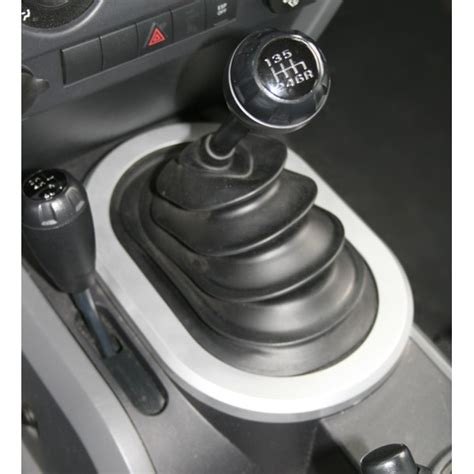 Manual Transmission Shifter by All Things Jeep Silver Manual Transmission Shifter Bezel