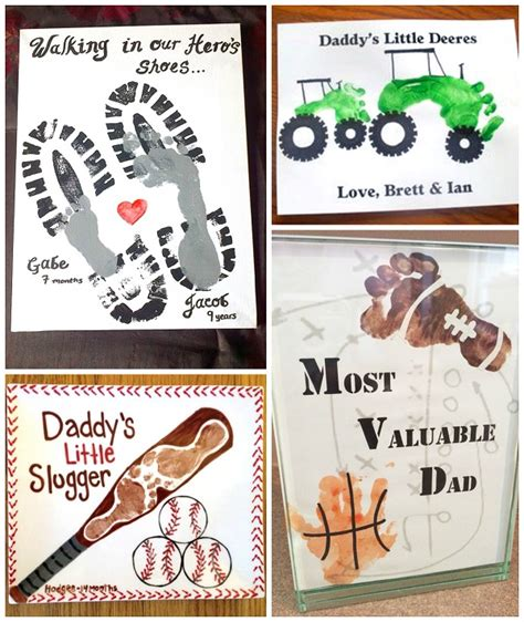father s day footprint gift ideas from the kids crafty
