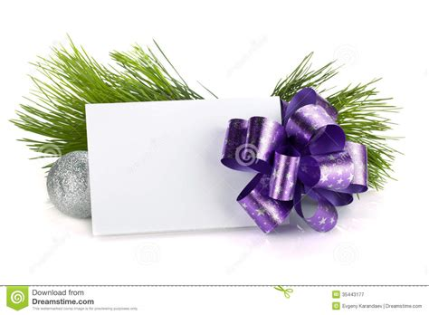 Empty Gift Cards - empty gift card and christmas decor royalty free stock photography image 35443177