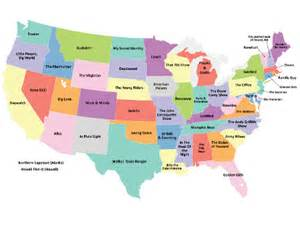 the united states map of television shows geekologie