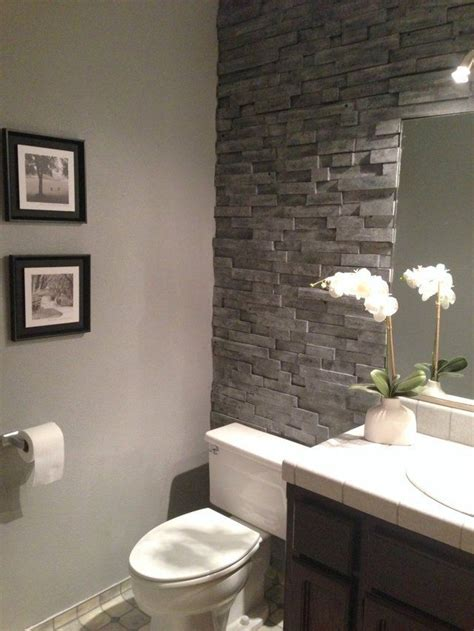 stone veneer bathroom the quot you ll never believe this isn t stacked stone