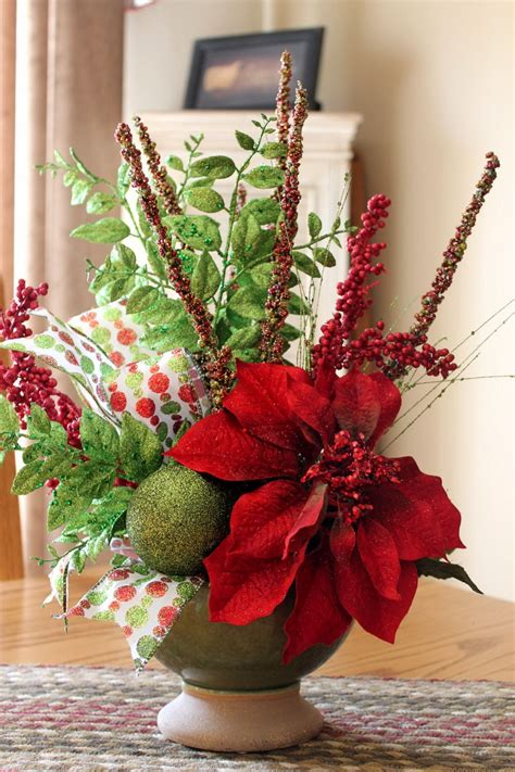 apartments beautiful christmas flower vase arrangements