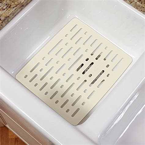 kitchen sink mats rubbermaid 1g1606bisqu large sink mat 12 8 quot x15 9 quot x 36