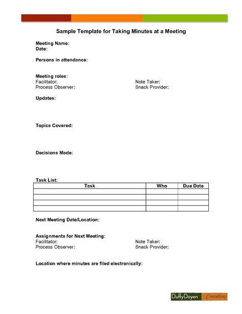 minutes of meeting template bio letter format