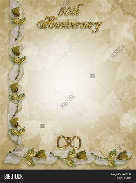 50th anniversary powerpoint template 50th wedding anniversary golden image photo bigstock