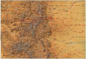 colorado terrain map detailed colorado map co terrain map