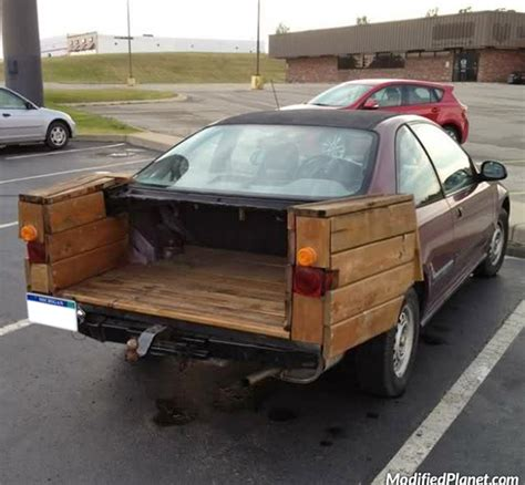 car with a truck bed 1994 honda civic coupe wood pickup truck fail