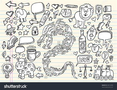 doodle speech free vector notebook doodle speech design elements mega