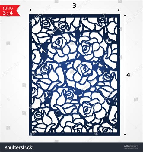 pattern cutter en francais cutout silhouette botanical roses pattern laser stock