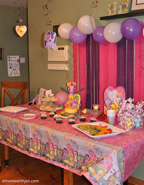 themes for a house party my little pony birthday party ideas for a home party and