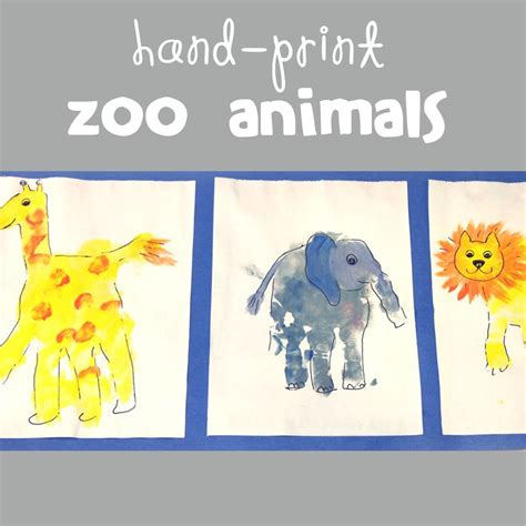 zoo animal crafts for handprint animal crafts for