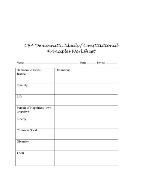 Principles Of The Constitution Worksheet by 100 Constitution Worksheet Answers The Constitution