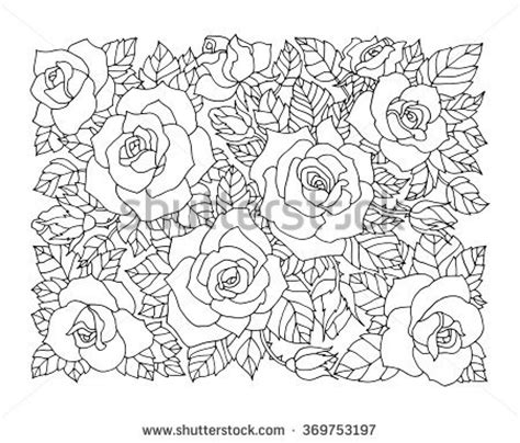 intricate rose coloring pages intricate stock vectors vector clip art shutterstock