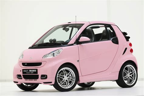 smart car pink smart fortwo wins most embarrassing car award