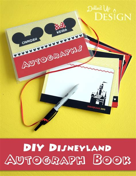 disney world autograph book template diy disney autograph books munchkins