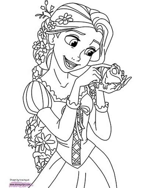 disney rapunzel coloring pages free printable princess