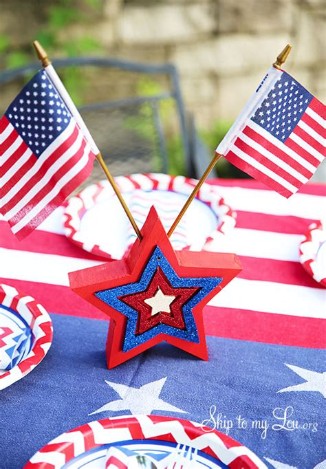 fourth of july decorations fourth of july wooden table decoration skip to my lou