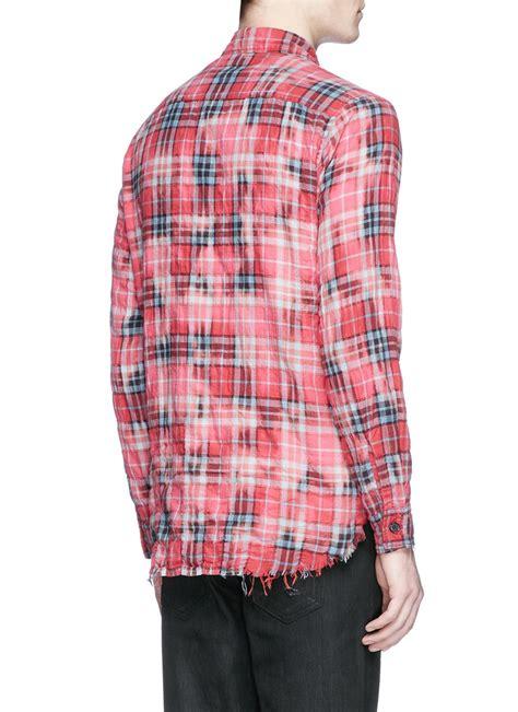 Tshirt Sain German Db lyst laurent check distressed flannel shirt in