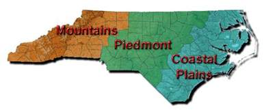 map of carolina regions nc piedmont pinecone org