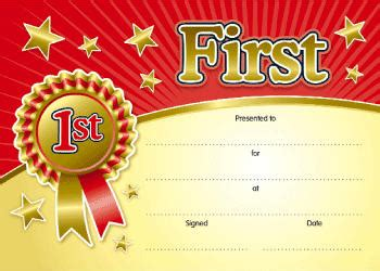 4 best images of first place certificate printable my