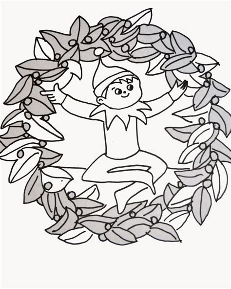 coloring page of elf on the shelf elf on a shelf coloring pages coloring home