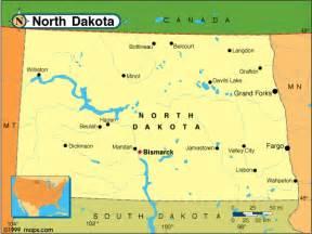 North Dakota Map Usa by North Dakota Map United States