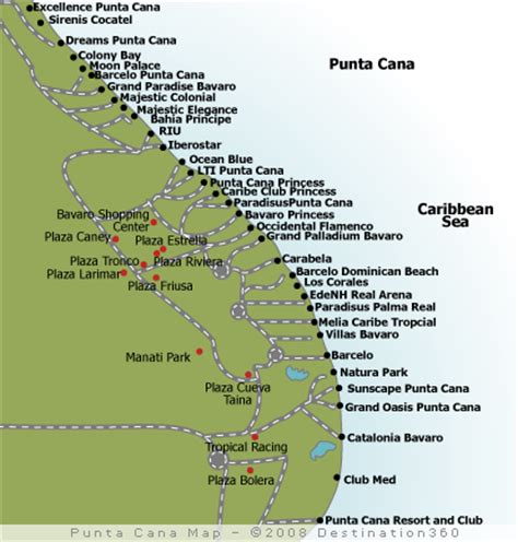 map of punta cana map of republic punta cana