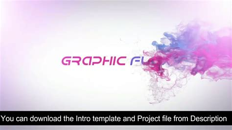 Colorful Smoke Intro Reveal After Effects With Free Template Download Youtube After Effects Smoke Intro Template