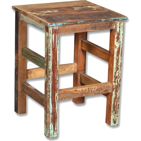 Distressed Wood Counter Stools by Loraine Distressed Recycled Wood Counter Stool
