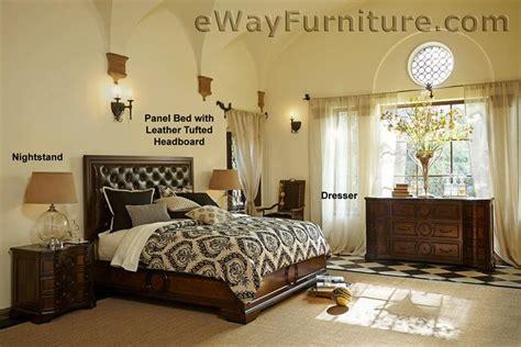 tufted headboard bedroom set cera panel bed with leather tufted headboard bedroom set furniture ebay
