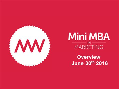 Mba In Marketing Outlook by Applying The Mini Mba In Marketing